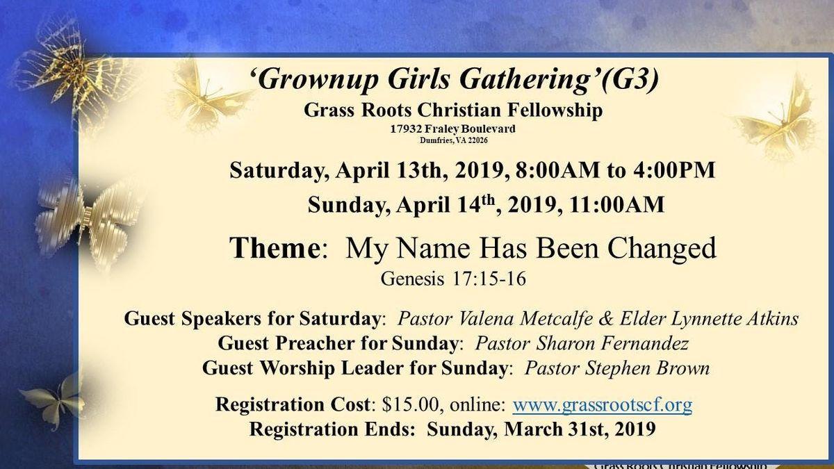 Grownup Girls Gathering (G3)