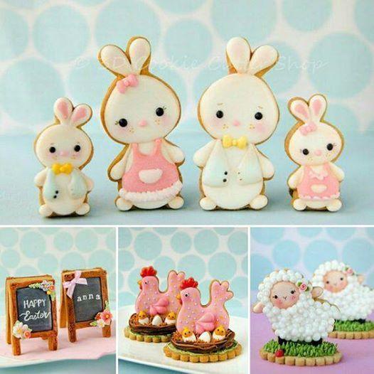 Basis koekjes versieren met royal icing thema lente- VOL