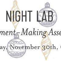 Night Lab Ornament Making
