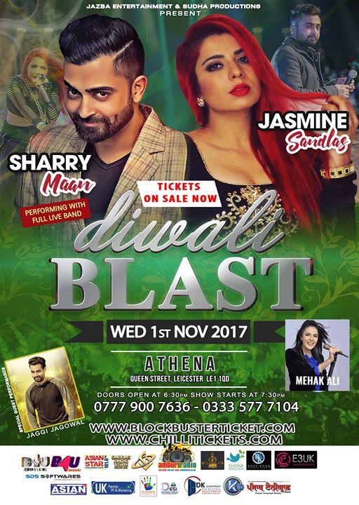 Diwali Blast Leicester - Sharry Mann & Jasmine Sandlas