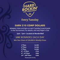 Hard Rockin Slot Tournament