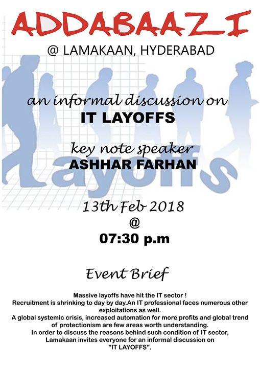 Addabaazi  An informal discussion on IT Layoffs