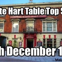 White hart table top sale