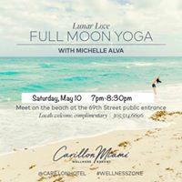 Full Moon Yoga on The 69 St Beach