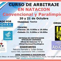 Curso de Arbitraje en Natacin Convencional y Paralimpica