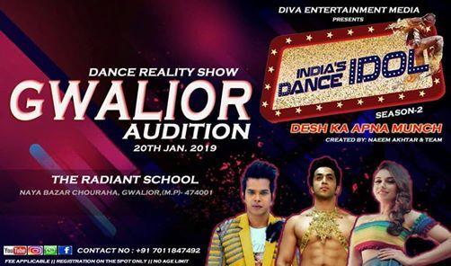 Indias Dance Idol Season 2 TV Reality Show Gwalior Audition