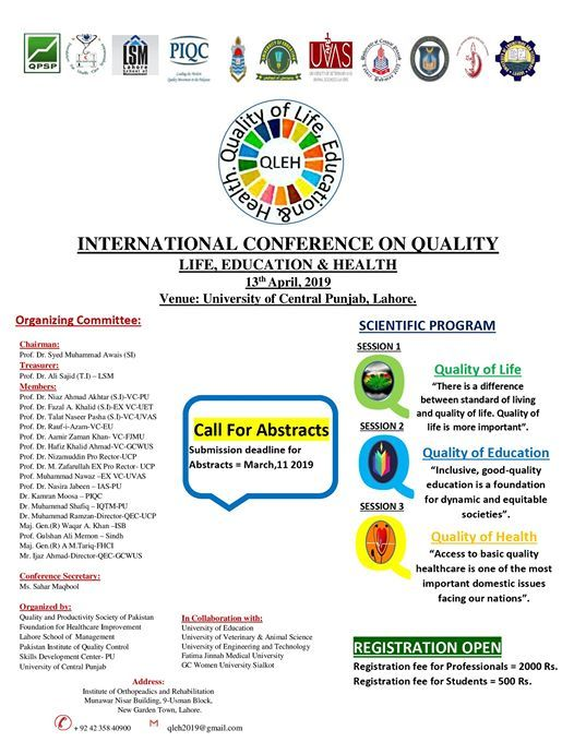 International Conference on Quality (QLEH 2019)