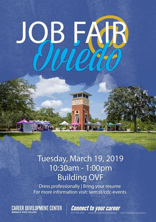 Seminole State Oviedo Campus Map.2019 Job Fair Oviedo Campus At 2505 Lockwood Rd Oviedo Fl 32765