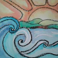 Paint Nite Ride The Waves