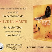 Presentacin &quotNieve en Marte&quot de Pablo Tbar (Premio Minotauro)