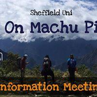 Sheffield take on Machu Picchu Info Evening