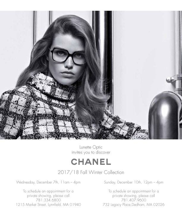 Chanel Trunk Show - Lynnfield   Dedham Locations Only at Lunette ... e521b79fea4d