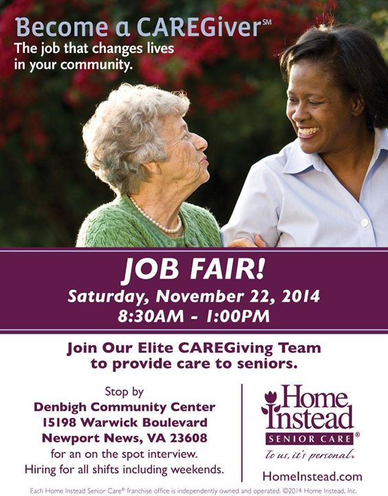 Job Fair at Home Instead Senior Care, Clearwater