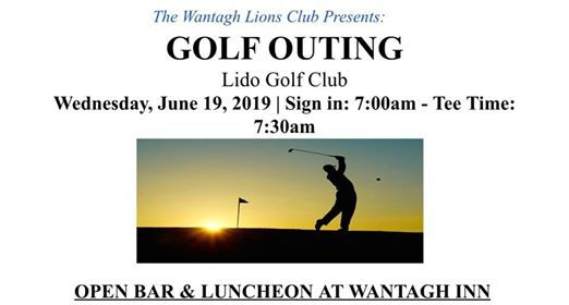 Wantagh Lions Golf Outing Fundraiser 2019