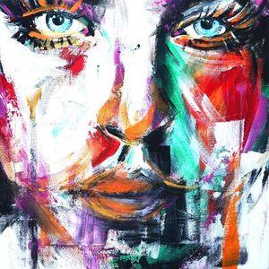ArtNight Abstraktes Portrait am 24062019 in Lbeck