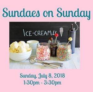 Sundaes on Sunday Ice Cream Social