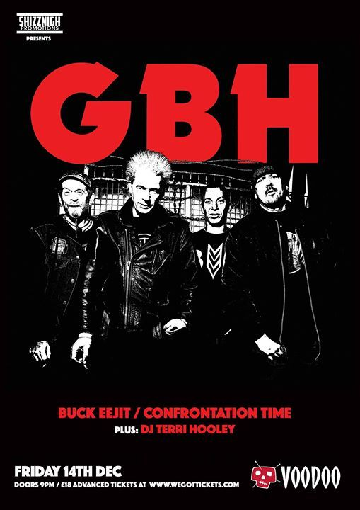 GBH Buck Eejit Confrontation Time Terri Hooley live at Voodoo