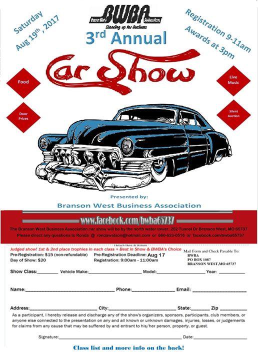 BWBA Rd Annual Car Show At Tunnel Dr Branson West MO - Car show branson mo