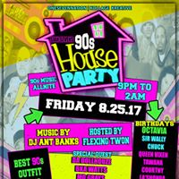 Siah Svens 90s House Party Music by Dj Ants Banks Hosted by Flex