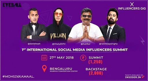 Influencers Gig 2018 - Bangalore