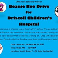 Beanie Boo Drive for Driscoll Childrens Hospital