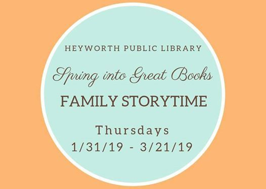 Family Storytime At Heyworth Public Library