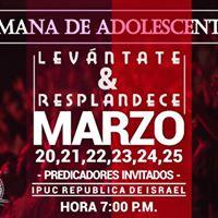 Semana De Adolescentes Ipuc Repblica De Israel