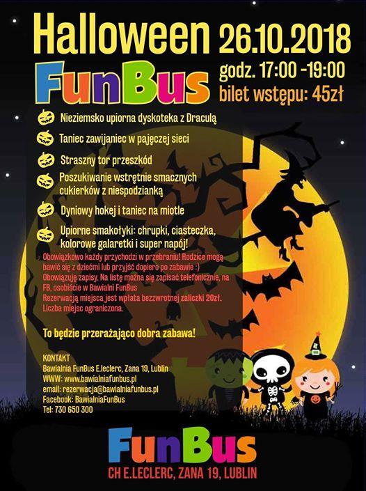Halloween Party W Bawialnia Funbus Lublin 26102018 At Bawialnia
