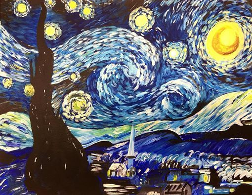Starry Night Intermediate Acrylic Painting Class At Michaels Stores
