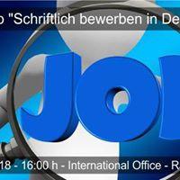 Workshop &quotSchriftlich bewerben in Deutschland&quot