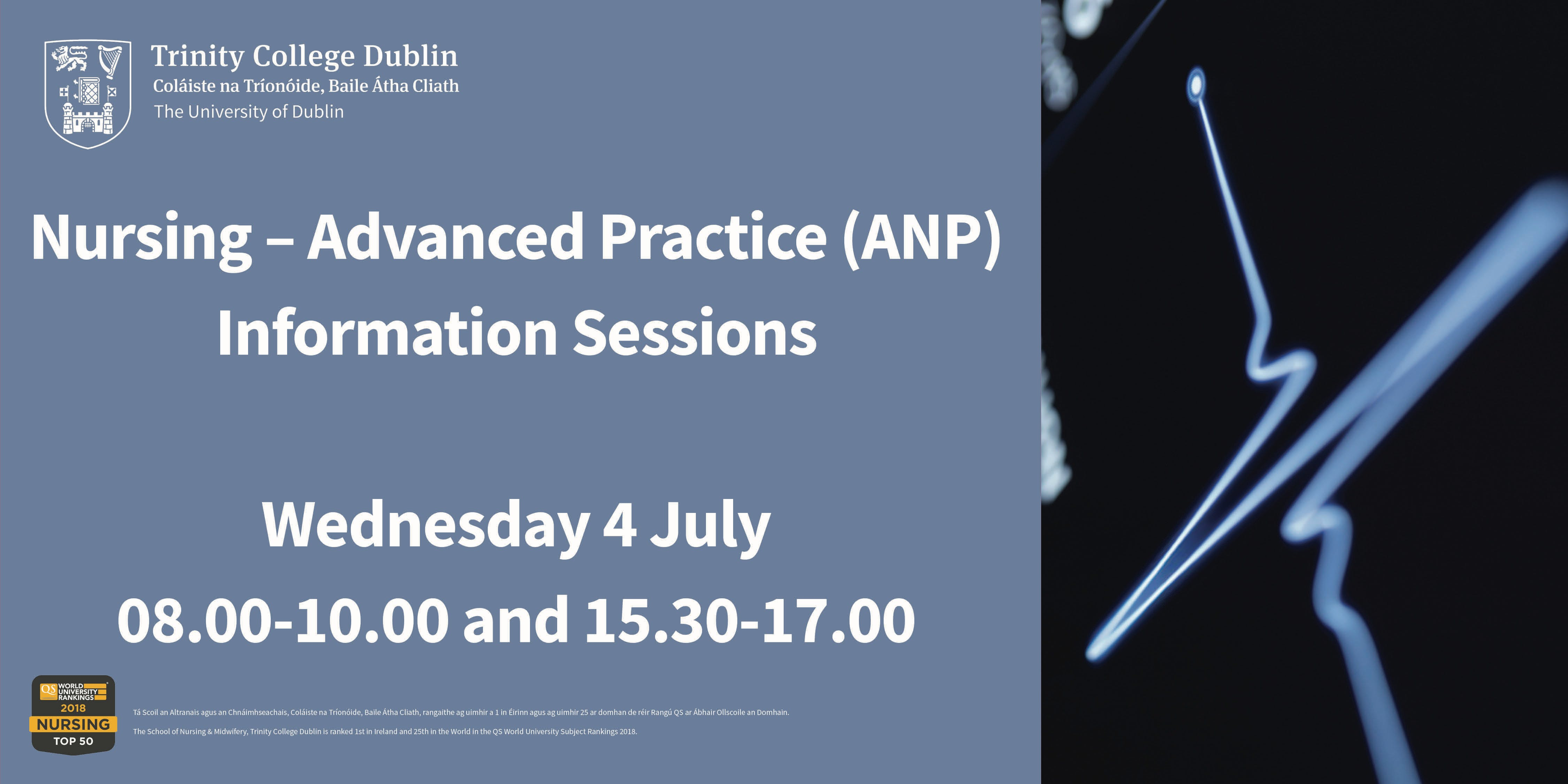Nursing – Advanced Practice (ANP) Information Sessions at