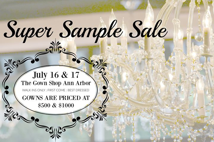 Super Sample Sale National Bridal Sale Day At The Gown Shop