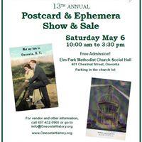 Postcard &amp Ephemera Show &amp Sale
