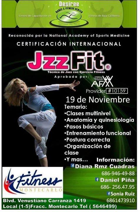 Certificacion Internacional JzzFit at Fitness Montecarlo, Mexicali