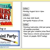 Potluck Paint Party at Happy Valley Farmers Market Springville