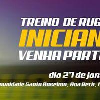 Treino de Rugby para iniciantes do Serra Caxias