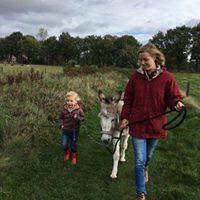 Wandeling met ezel Anne