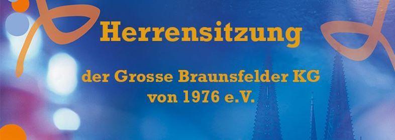 Herrensitzung 2019 der Grosse Braunsfelder KG von 1976 e.V.