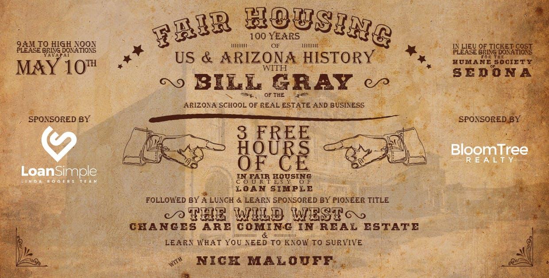 Arizona Fair Housing 100 Years Of Us And Arizona History With Bill