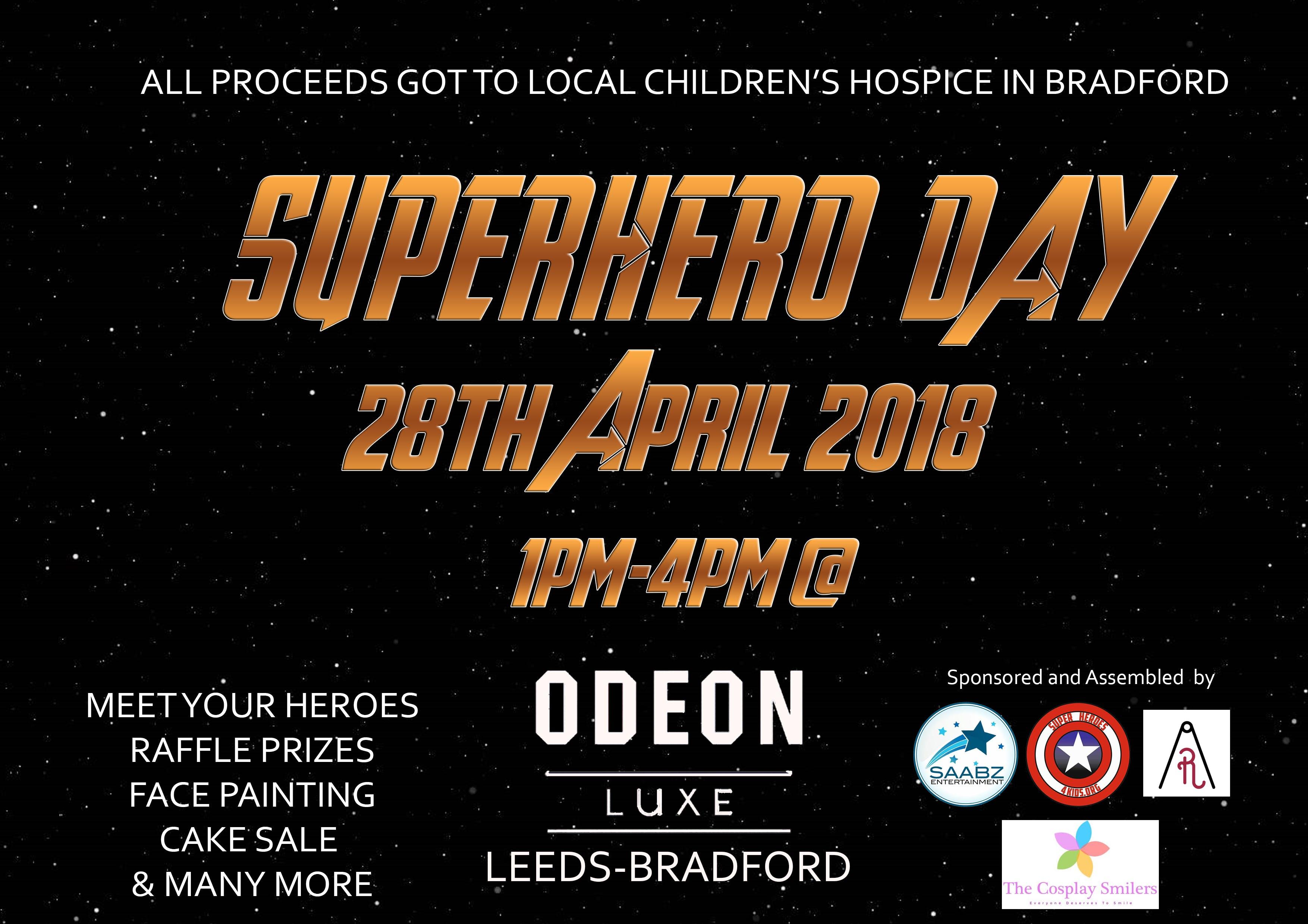 Superhero day meet greetcharity fun day at odeon cinema leeds superhero day meet greetcharity fun day m4hsunfo