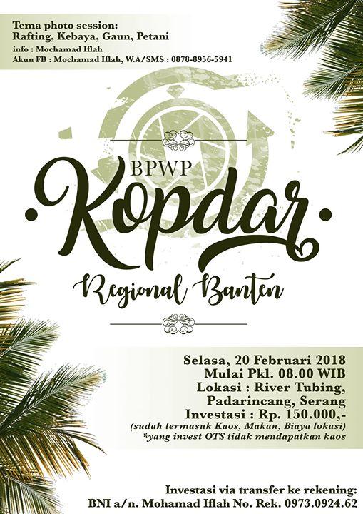 Bpwp Kopdar Regional Banten At River Tubing Cikal Adventure Serang