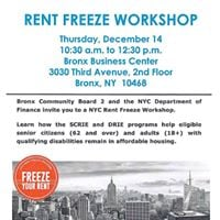 Rent Freeze Workshop