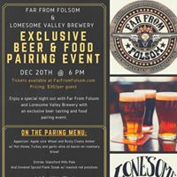 Beer &amp Food Pairing  Far From Folsom &amp Lonesome Valley Brewery