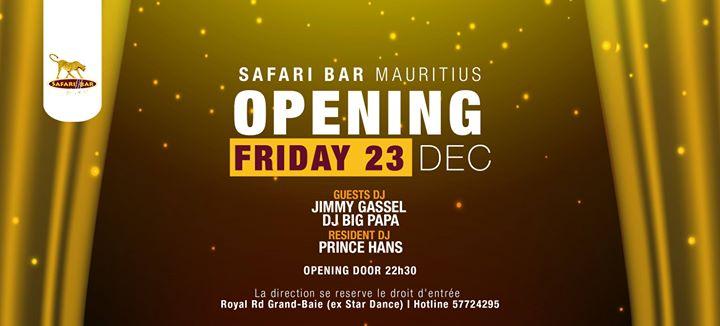 Safari Bar Mauritius(Ex Stardance) Opening Friday 23 December at