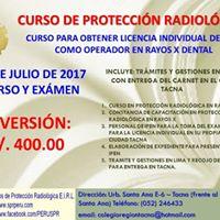Curso En Proteccin Radiolgica En Rayos X Dental  Tacna
