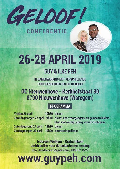 Conferentie met Guy & Ilke - 26-28 April 2019