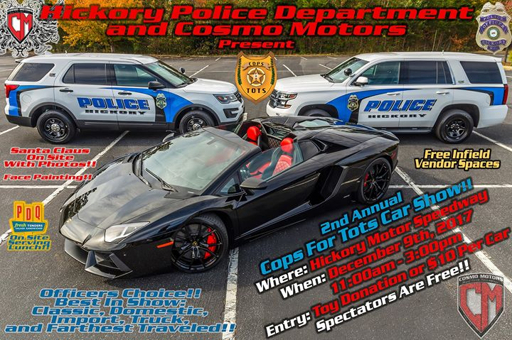 Cops-For-Tots by Cosmo Motors & Hickory Police Department