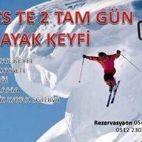 Erciyes kayak pistinde 2 Gece 2 Gndz