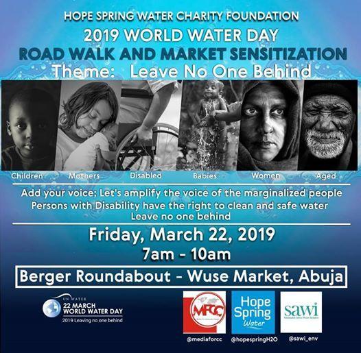 2019 World Water Day Road Walk & Market Sensitization