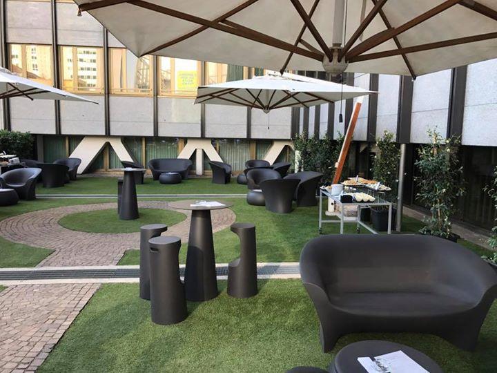 Terrazza moser hotel hilton milano by mondoeventsmilan for Hotel hilton milano